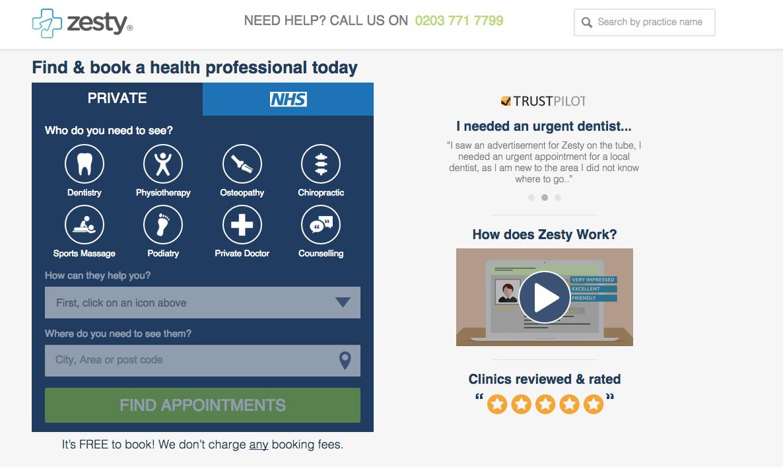 Zesty Homepage